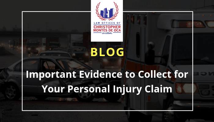 Important Evidence to collect for your personal injury claim