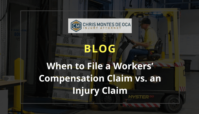 When to file a workers' compensation claim vs an injury claim