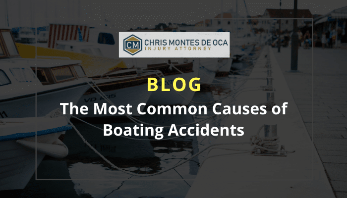 The most common causes of boating accidents