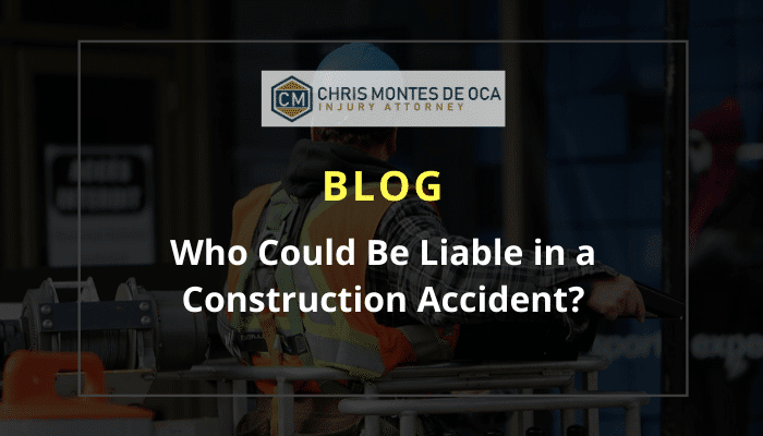 Who could be liable in a construction accident