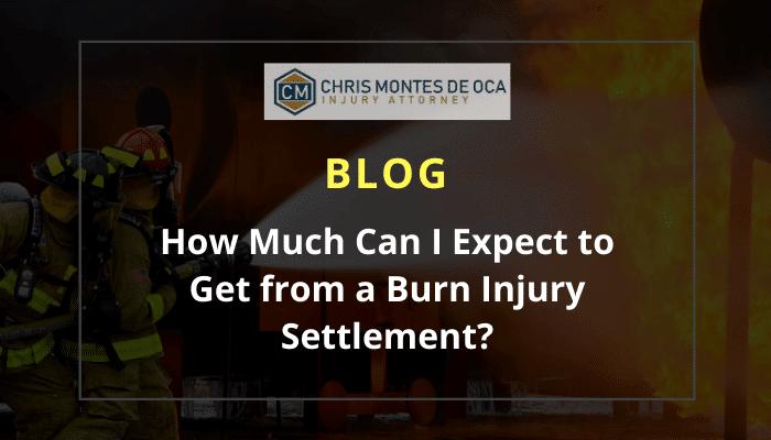 How much can I expect to get from a burn injury settlement