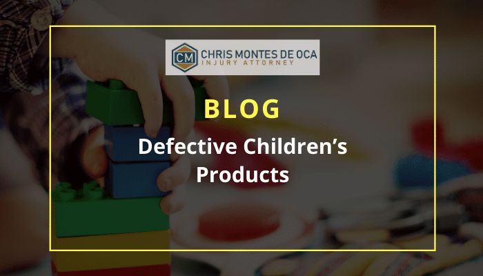 defective children's products